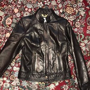 Black leather Moto jacket